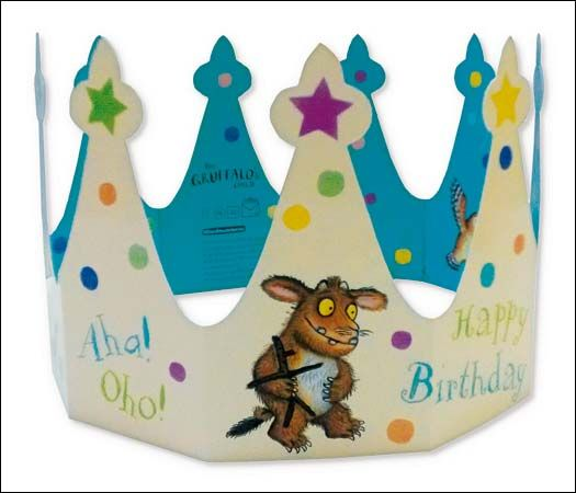 New The Gruffalo Birthday Crown The Greeting Inside Says This Crown Is Presented To Happy Bir Happy Birthday Crown Birthday Crown Kids Birthday Cards