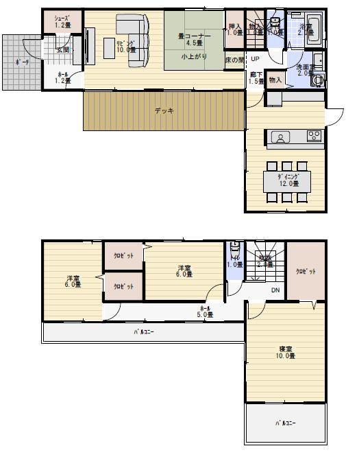 38坪4ldk L字型の間取り 間取り 人気 間取り 家の間取り 住宅