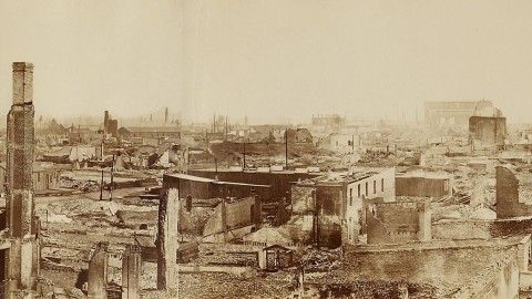 Most Of Central Chicago Burned In The 1871 Fire Historians