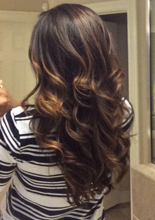 Balayage/ombré on dark hair
