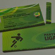 Einladungskarten Geburtstag als Fussball Ticket Eintrittskarte Einladung