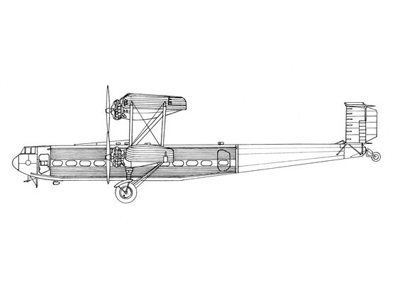 AIRCRAFT DRAWINGS: Handley Page H.P.42/45