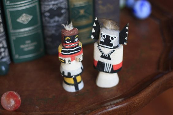 RARE Pair of 1920's Era Kachina Dolls Crow Mother and Chakwaina on Etsy, $750.00