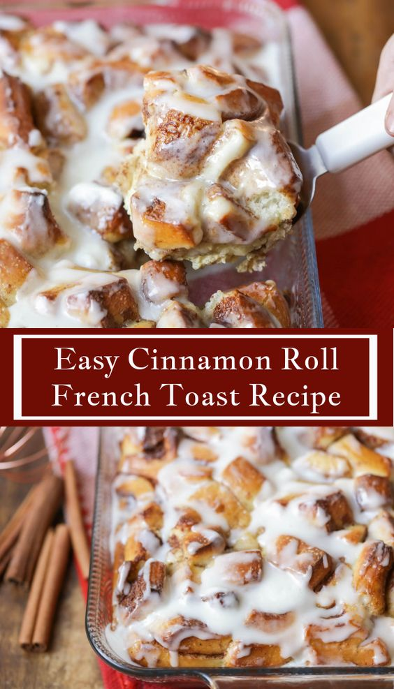 CINNAMON ROLL FRENCH TOAST BAKE RECIPE