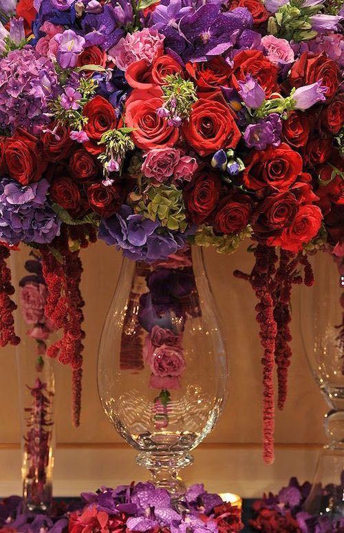 Purple Wedding Centerpieces With Glamour - MODwedding