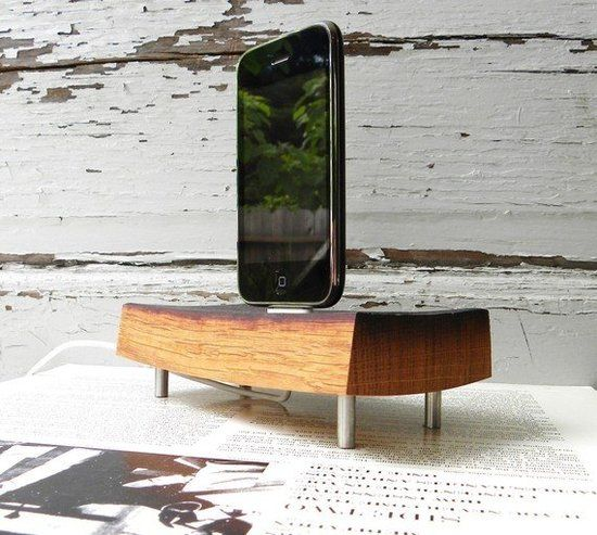 Wood iPhone and iPod Charger