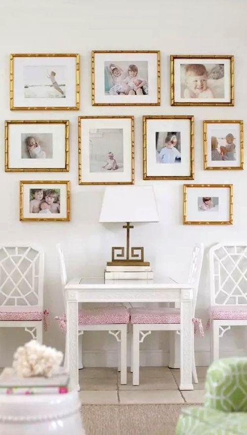 Gold Frames Haus Deko Dekor Galeriewand