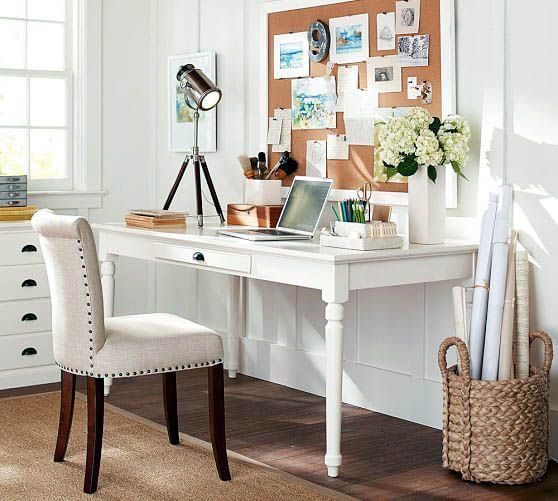 Writing Desk With Drawers, Pottery Barn Office Furniture