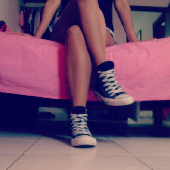 Converse for run away.