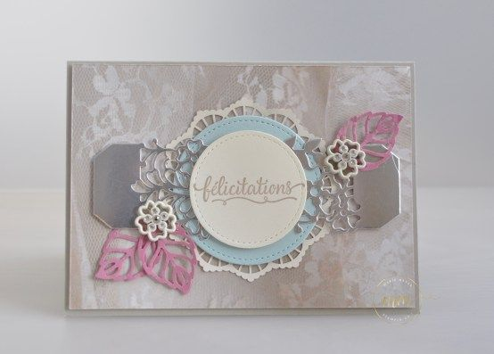 Cartes de félicitation de mariage Thinlits En détails  par Marie Meyer Stampin up - http://ateliers-scrapbooking.fr/ - Thinlits So Detaled - Thinlits Liebe zum Detail: