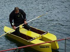 DIY stitch-and-glue wooden W fishing kayak design - United Kingdom