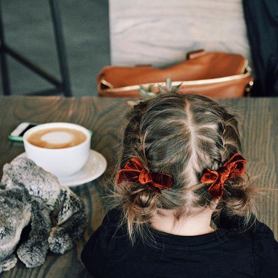 "Hair game is strong // ""Cinnamon"" velvet schoolgirls by Free Babes Handmade. Classic hair bows made perfect for you little girls winter fashion."