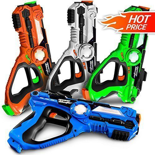 Laser Tag Guns Set Of 4 Laser Guns Best Toys For Boys Teens 7 14 Years Old Novelty Fun Gifts For Boys I Cool Toys For Boys Toys For Boys Gifts For Boys