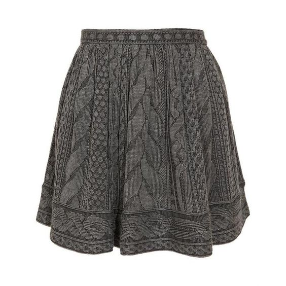 Opening Ceremony Wool-Blend Cable Knit Mini-Skirt (240) found on Polyvore