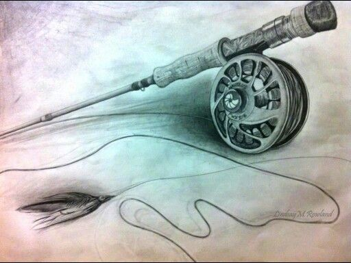 Fly fishing reel drawing - photo#3