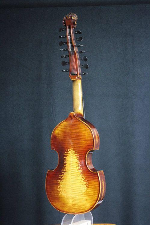 Martin Biller - Viola d'amore after Jean Baptiste Deshayes Salomon (c.1740) #MartinBiller #ViolaDamore