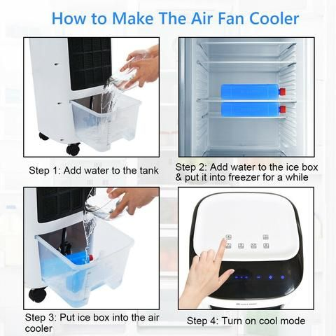 Portable Air Conditioner Evaporative Indoor Ac Unit For Small Rooms Windowless Remote Control Mor In 2020 Portable Air Conditioner Air Cooler Fan Portable Air Cooler