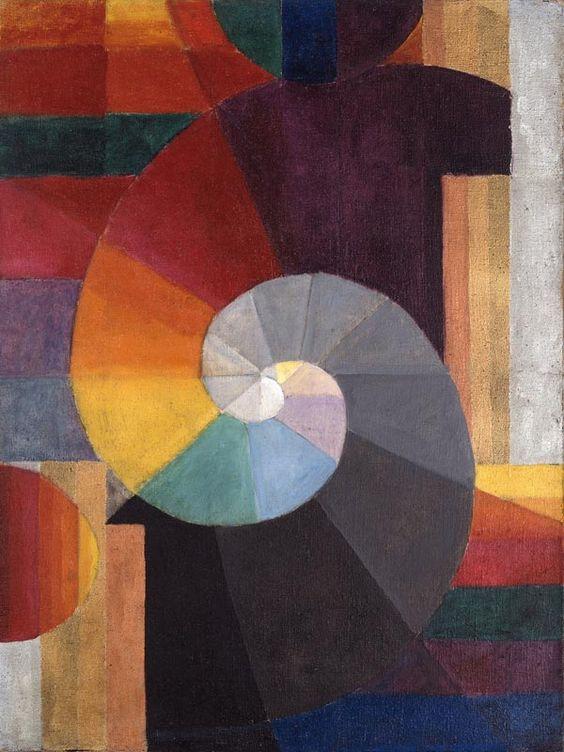 amare-habeo:  Johannes Itten (1888 - 1967) - Encounter (Begegnung), 1916  Oil on canvas   Kunsthaus Zürich, Switzerland