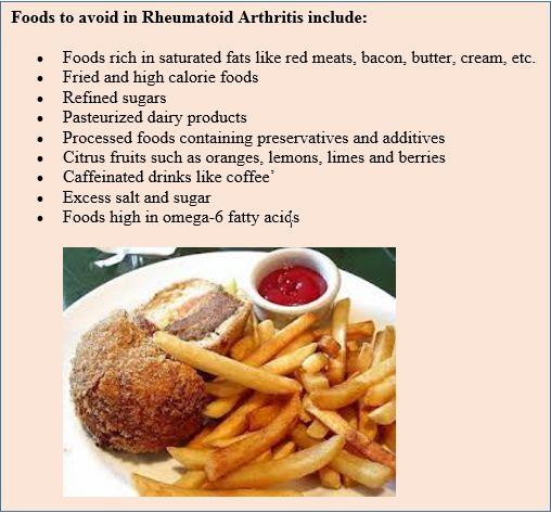 Rheumatoid Arthritis Diet Foods To Avoid