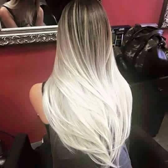 Balayage Platinum Blonde
