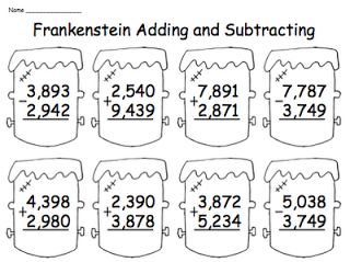 math worksheet : addition and subtraction halloween and ps on pinterest : Multiple Digit Addition Worksheets