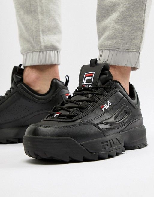 Fila Disruptor Sneaker In Black | ASOS