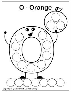 Set Of Abc Dot Marker Coloring Pages Letter O For Orange Preschool Alphabet Printables Dot Markers Letter O Crafts
