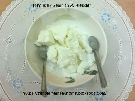 DIY Ice Cream In A Blender