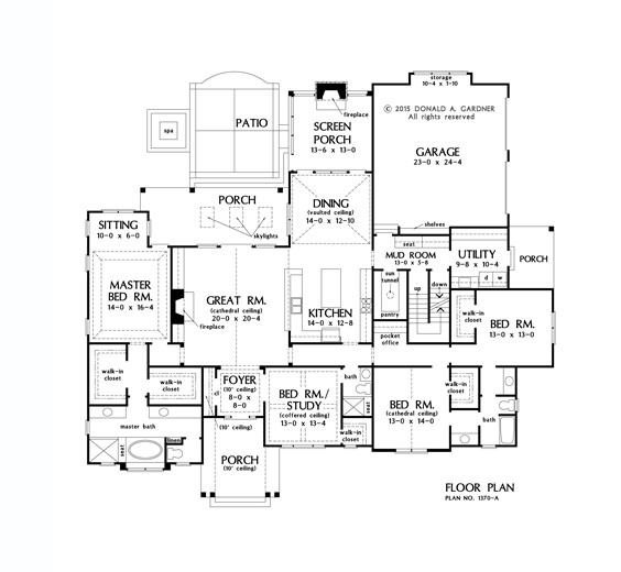 Remove To Left Of Family Room And Bump Out On Right Side Of House Flip Garage Back To Front Basement Floor Plans House Plans Basement Flooring