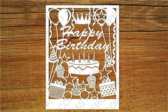 Free Svg Happy Birthday Card Svg Files For Silhouette Cameo And