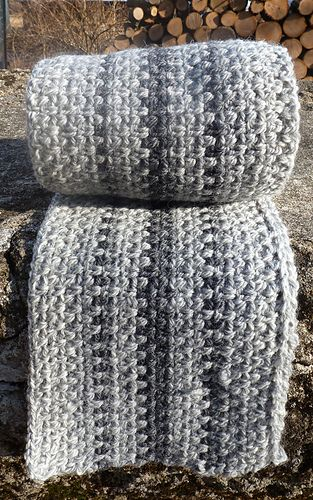 Crochet Scarf Pattern Male : Super fast scaf made using Granite Stitch (crochet ...