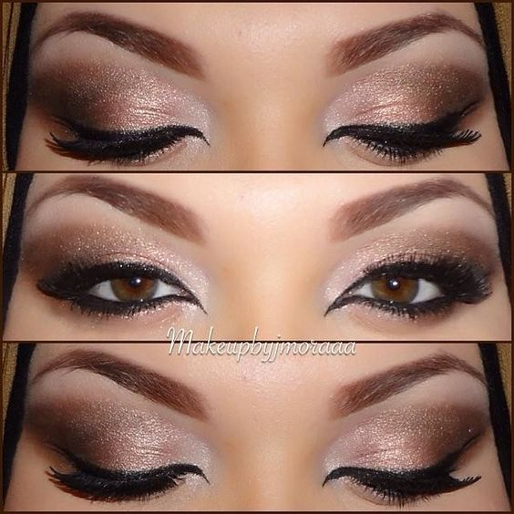 My Neutral Arabic Eye Makeup I Love How The Eyeliner Came