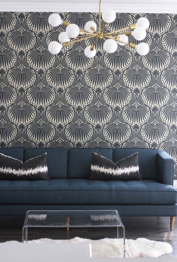 Love the pattern but need it similar tones. i.e. black and navy    . s-vintage-sputnik-light-owens-and-davis www.homeyohmy.com