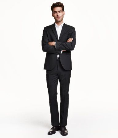 Premium quality, slim fit suit in Italian wool. | H&M Men's