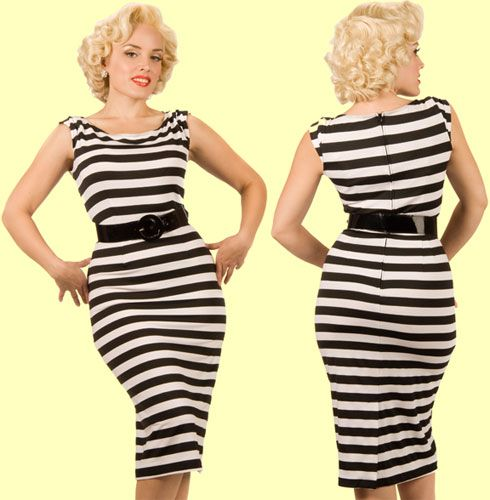 Elements Of Design Line In Fashion : Black and white horizontal line dress eff you quot fat