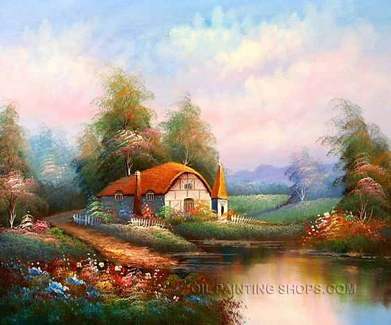 Wall Art Decoration Ideas Canvas Painting For Sale Irish Cottage Oil Paintings Thomas Size 24 X 20 82 Url Oilpaintingshops W