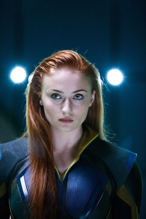 Sophie turner, Jean grey and Apocalypse on Pinterest