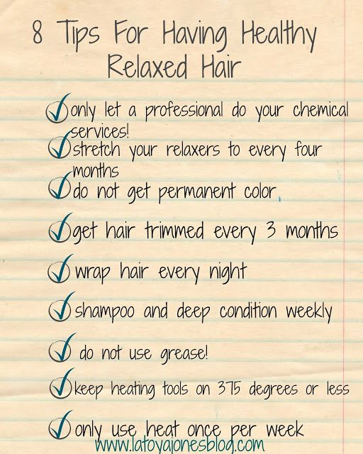 8 tips for having healthy relaxed hair (checklist) (www.latoyajonesblog.com)