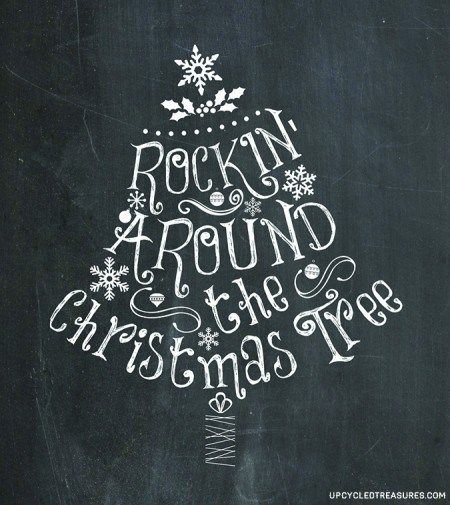 3 Free Christmas Printables - Enjoy these 3 FREE Christmas Chalkboard printables that you can either print or transfer over onto a chalkboard.: