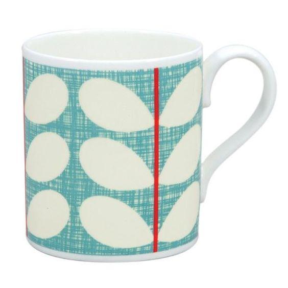 Orla Kiely Mug - Scribble Stem Blue