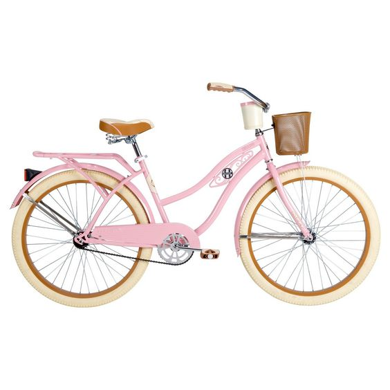 "2nd choice bike I want. Huffy Deluxe Women's Classic Cruiser Bike - Pink (26"")"
