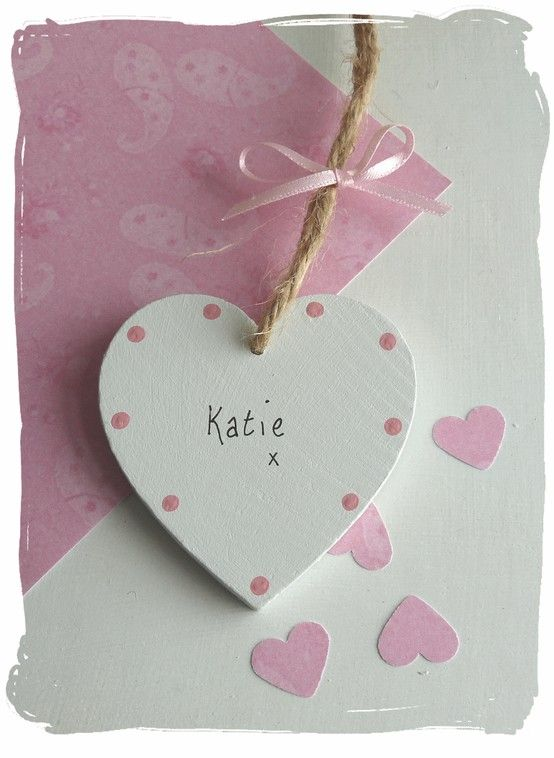 Wooden Heart Gift / Placename Tag   www.bynicki.co.uk