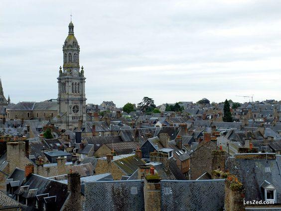 Mosaïque de toits gris à Avranches
