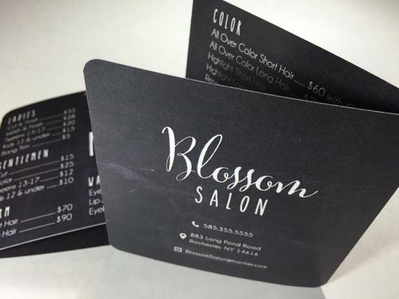 Chalkboard Pocket-Size Salon Menu Card for by pixelstopaper