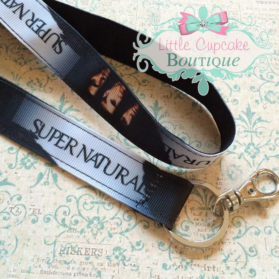 """Made to Order- Supernatural 18"""" Lanyard with Lobster Clasp- High Quality Durable Handmade Double Ribbon Lanyard Machine Stitched by LittleCupcakeGirls on Etsy https://www.etsy.com/listing/225313578/made-to-order-supernatural-18-lanyard"""