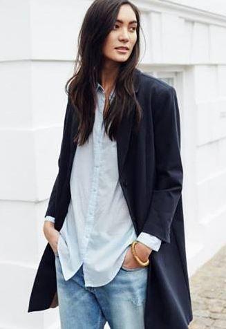Denim + blazer #style #minimal: