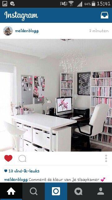 Een leuke moderne meisjes tiener kamer hanneke pinterest bureaus - Tiener met opbergruimte ...