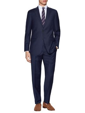 Graphic Stripes Suit from The Essential Navy Suit on Gilt