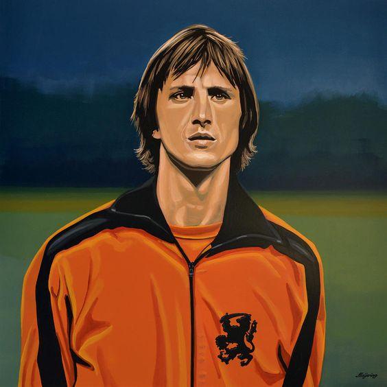 Johan Cruyff Oranje Painting  - Johan Cruyff Oranje Fine Art Print