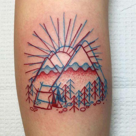 De jolis tatouages en 3D à regarder avec tes lunettes rouges et bleues